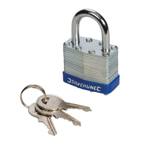 Silverline 704400 Laminated Padlock 50mm